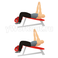 Вытягивание на наклонной скамье