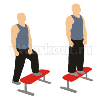 Заход на скамью с собственным весом