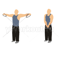 Разведения рук в стороны на блоке