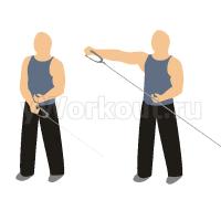 Разведение одной руки в сторону на блоке