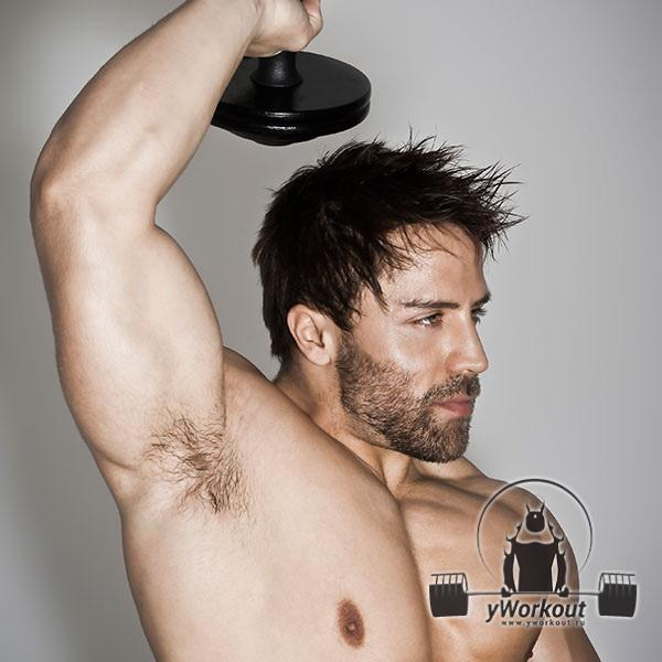 Прорабатываем трицепс - трехглавую мышцу плеча